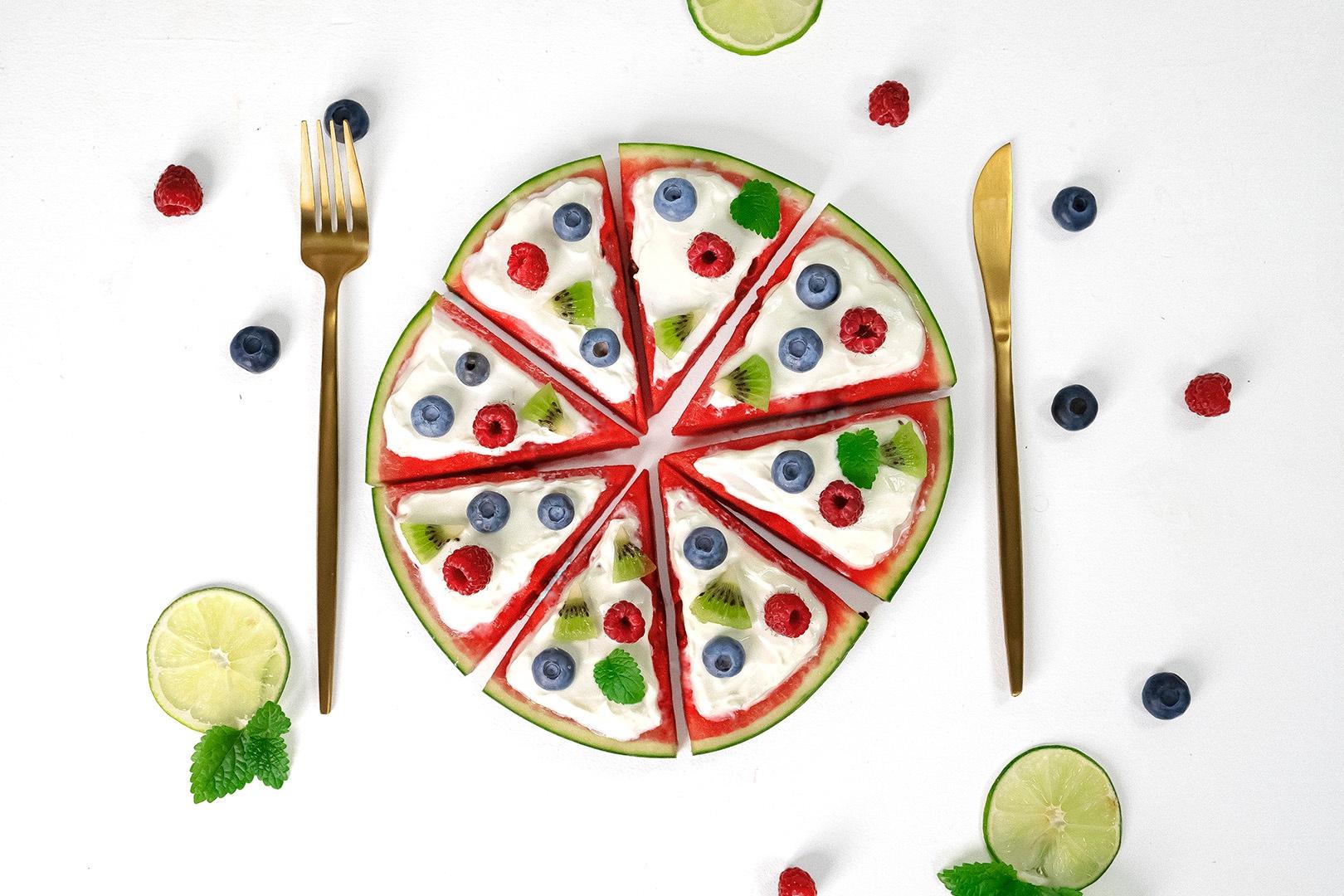 Leckere Melonen Pizza